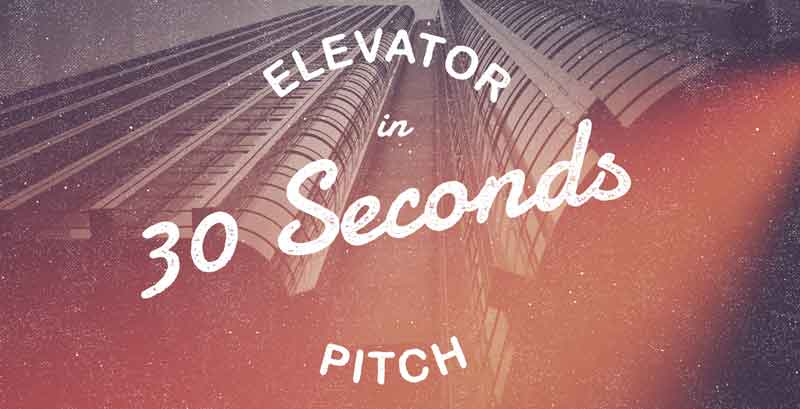 Startup & small business elevator pitch template